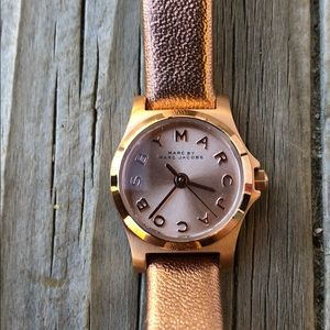 Marc by Marc Jacobs Rose Gold Leather Watch!